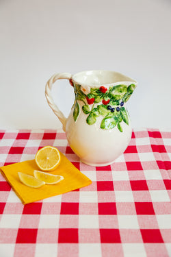 Italian Ceramic Fruit Pitcher