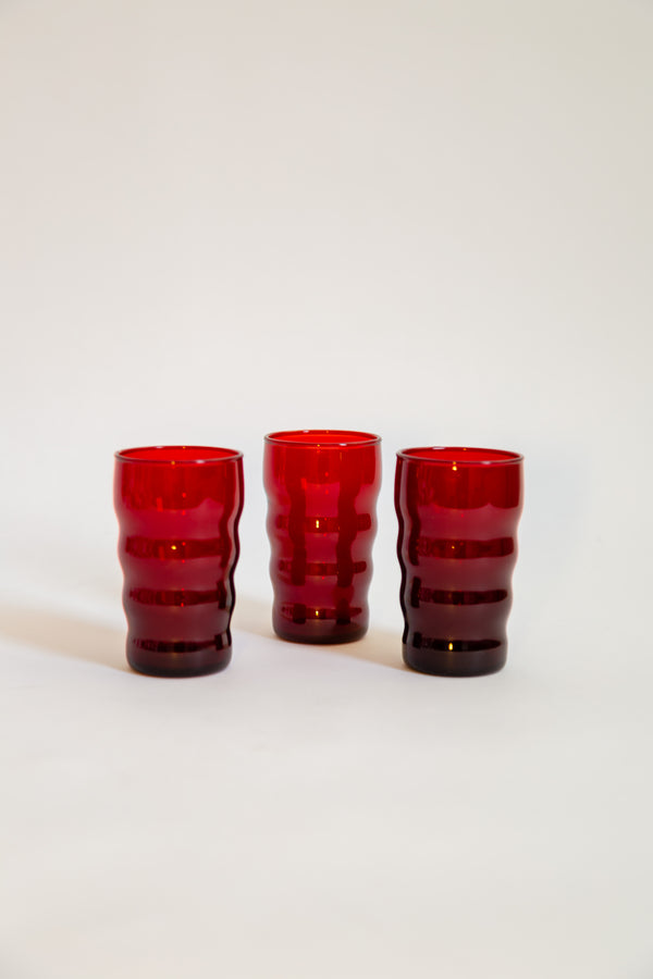 Wavy Form Ruby Glasses