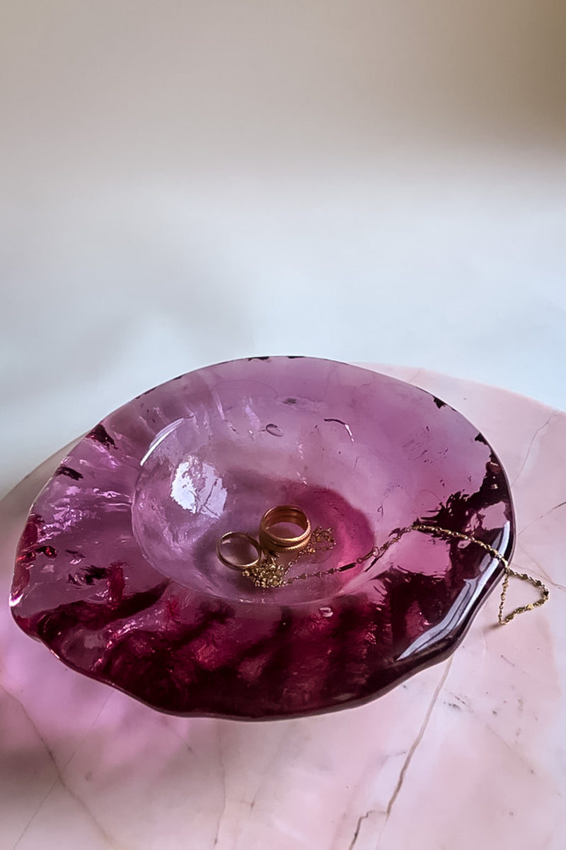 Dark Magenta Glass Catchall