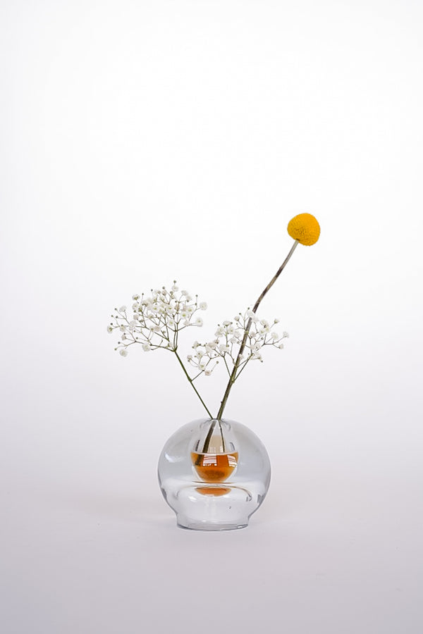 Glass Orb Vase