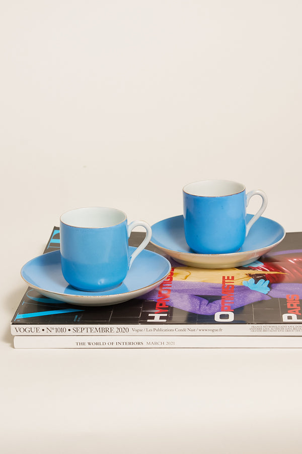 Sky Blue Demitasse Set