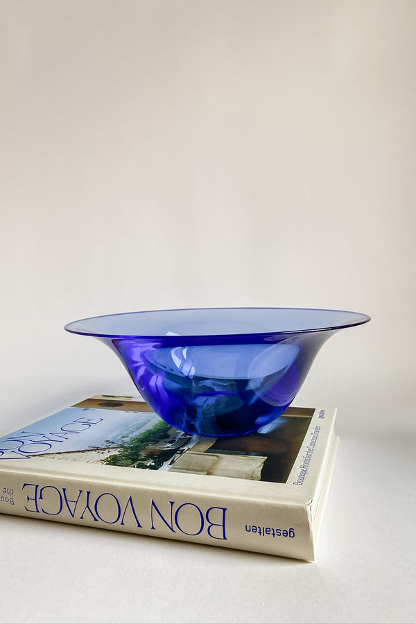 Cobalt Art Glass Bowl