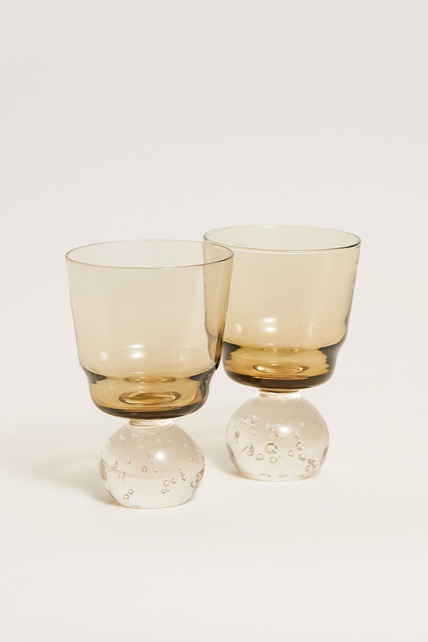 Smoky Bubble Base Cocktail Glasses