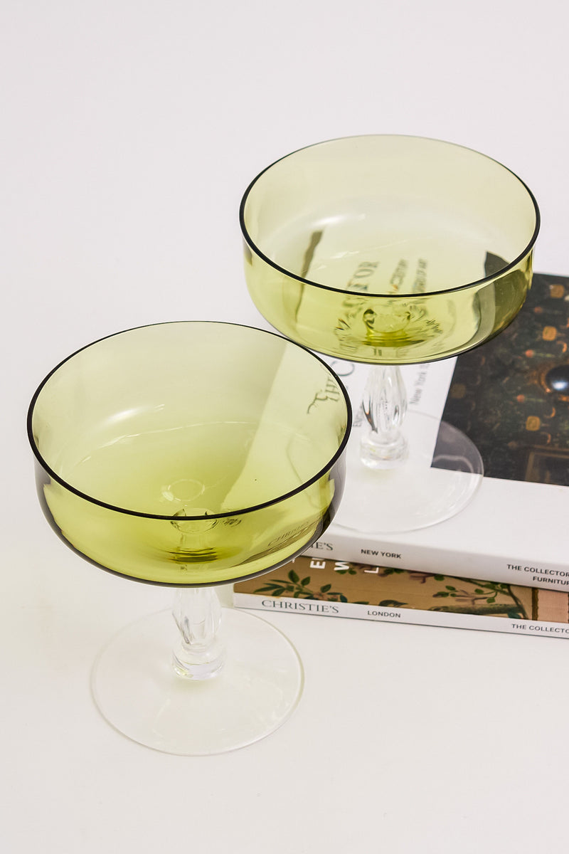 Pale Green Cocktail Glasses