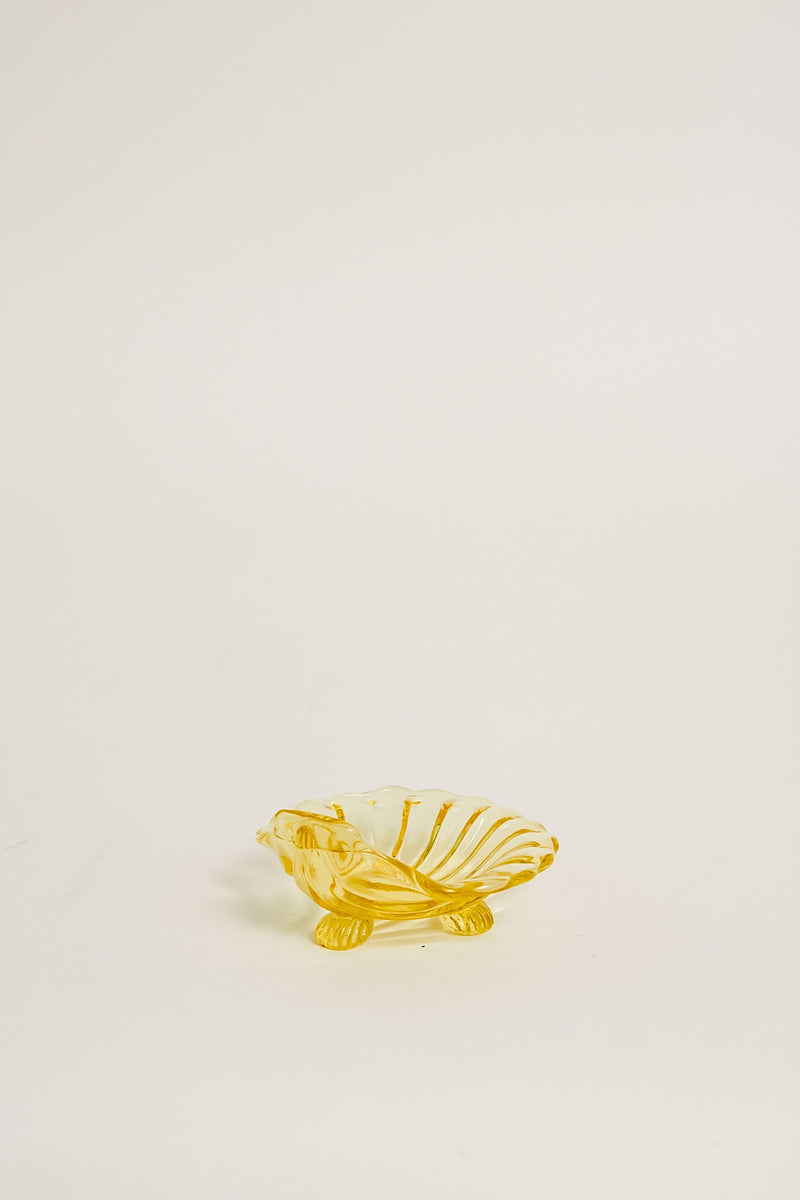 Yellow Glass Shell Dish