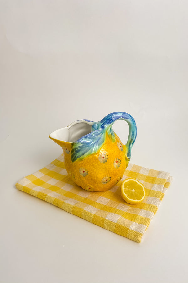 Italian Lemon Daisy Pitcher