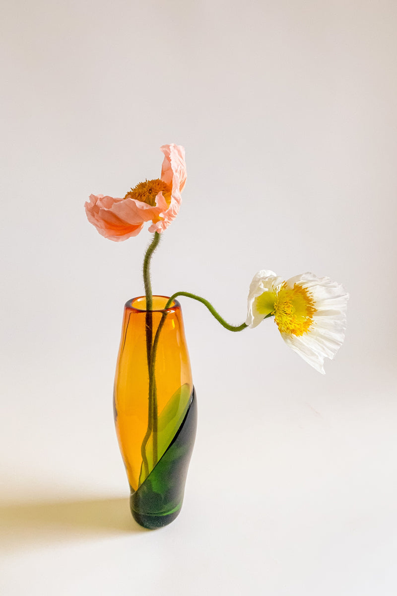 Italian Yellow and Green Art Glass Vase