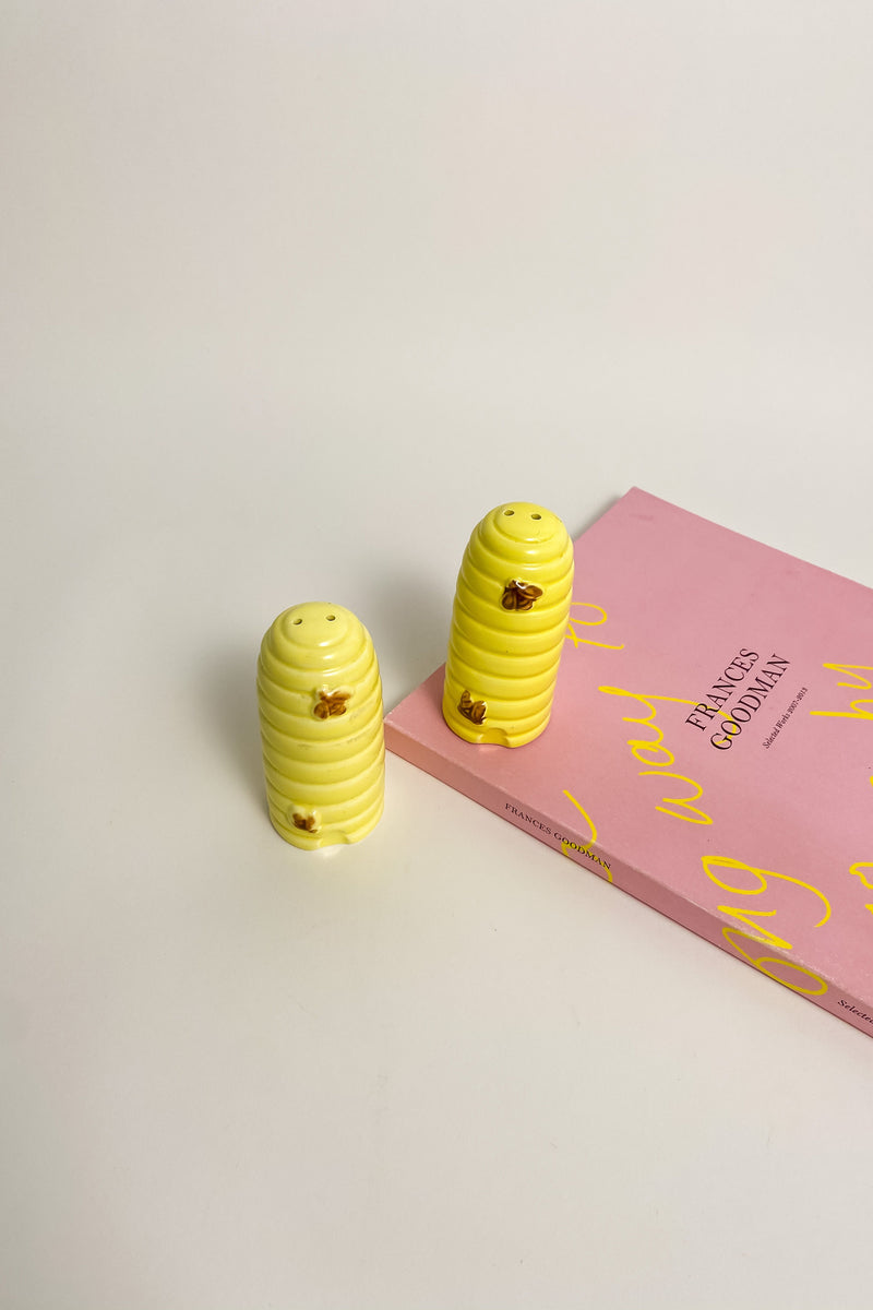 Ceramic Beehive Salt and Pepper Shakers