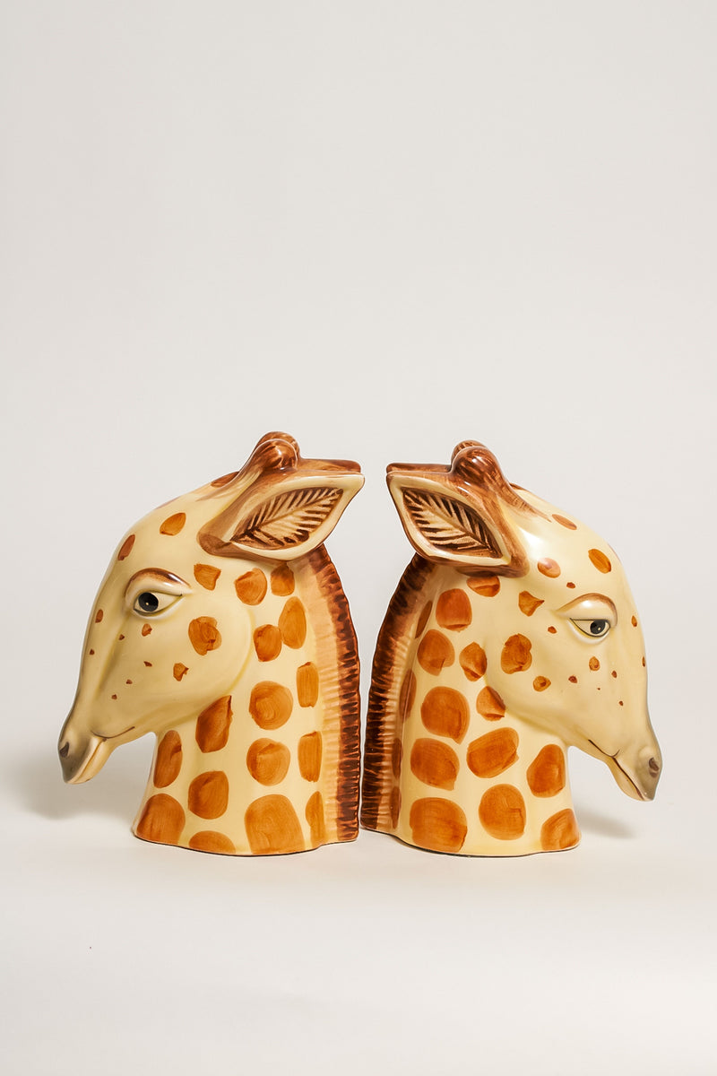 Japanese Hand Painted Giraffe Bookends