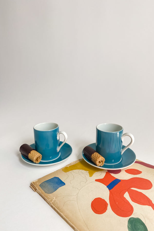 Teal Demitasse Set