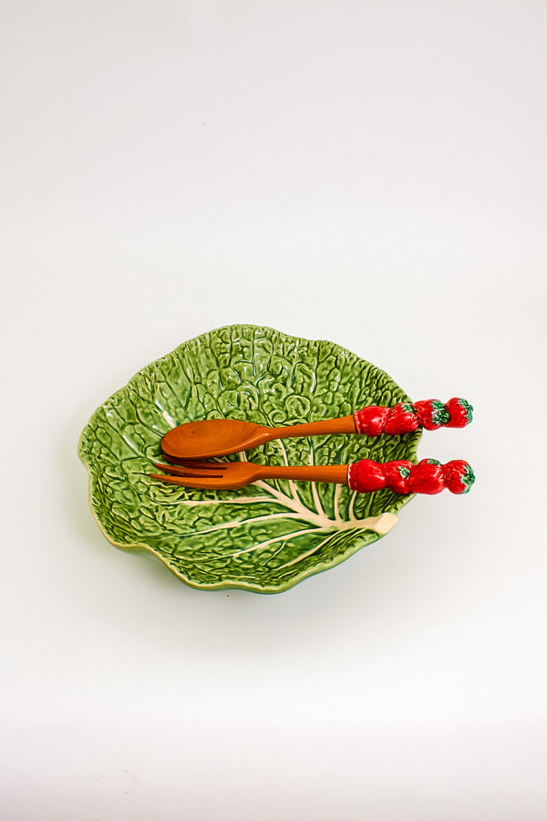 Italian Strawberry Handled Salad Servers