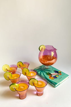Iridescent Punch Bowl Set