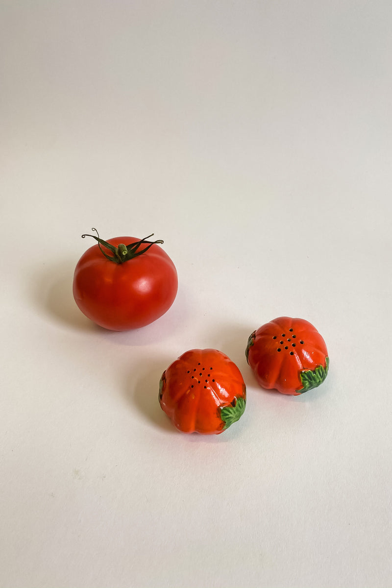 Hand Painted Tomato Salt and Pepper Shakers