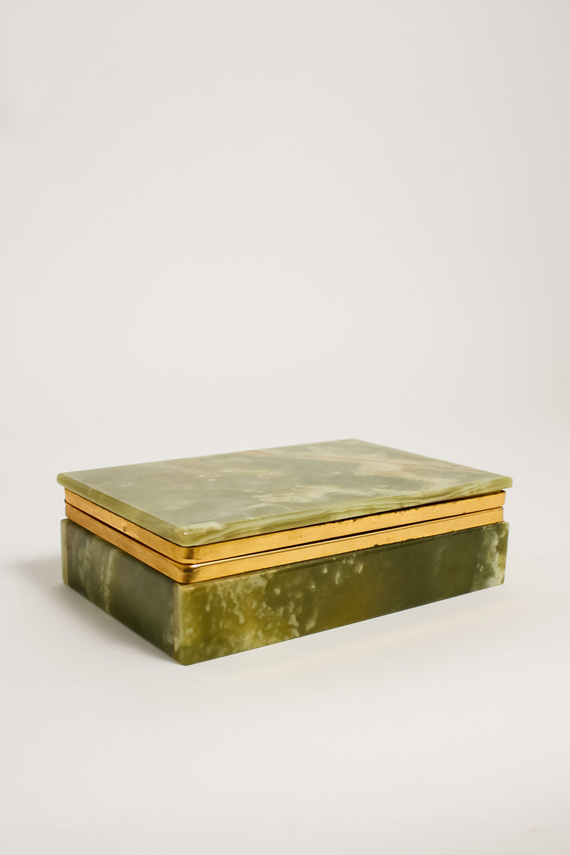 Green Onyx Jewelry Box