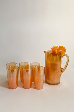 Lustre Glass Pitcher Set