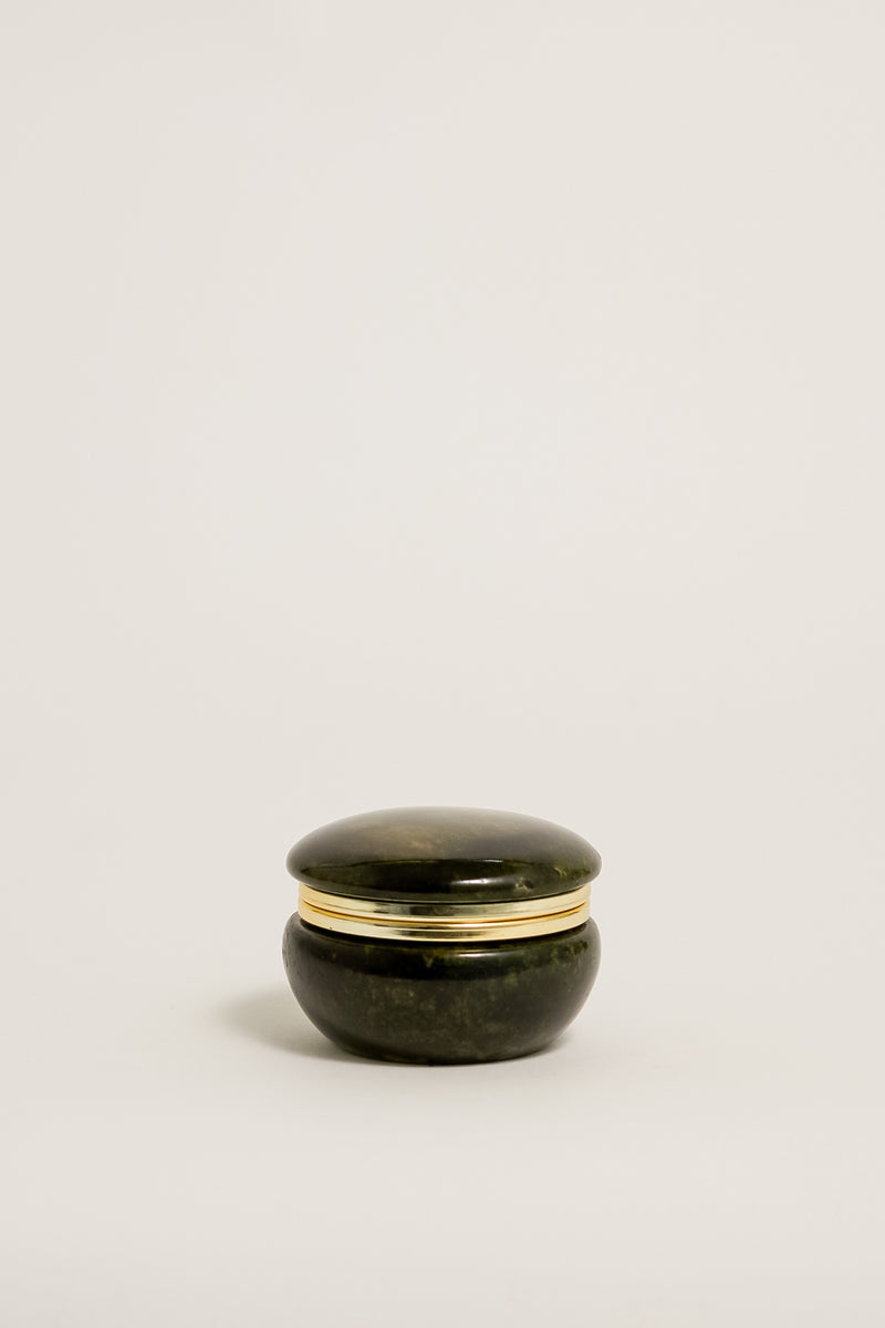 Dark Green Alabaster Box