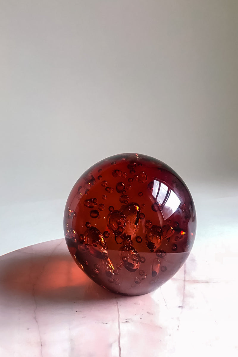 Large Glass Bubble Orb