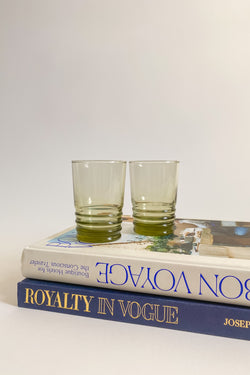 Ribbed Base Olive Green Tumblers