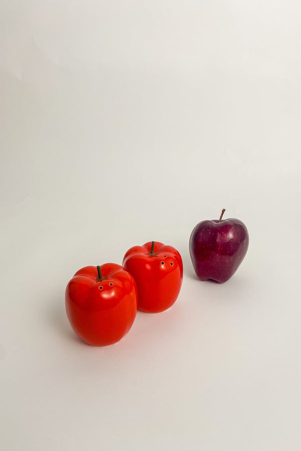 Red Apple Salt and Pepper Shakers