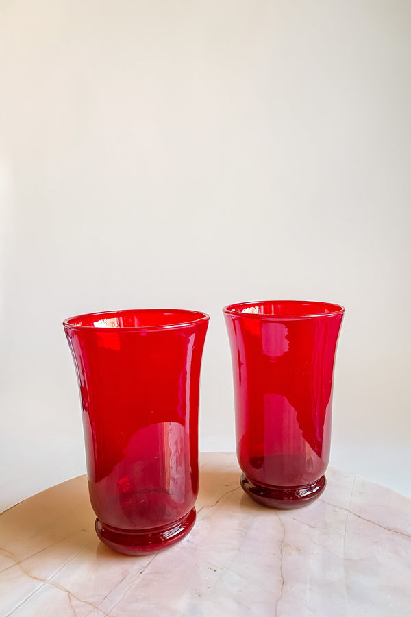 Crimson Glass Tumbler Set