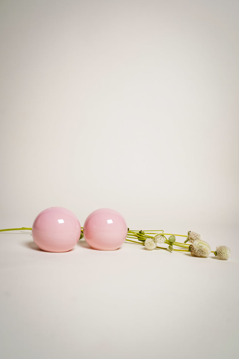 Pink Ball Salt & Pepper Shakers
