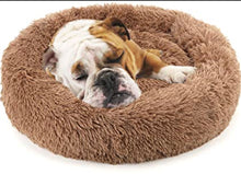 Load image into Gallery viewer, Brown Relaxing Pet Bed