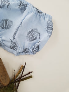 LIMITED EDITION - Hand Printed Blue Woodlouse Bloomers