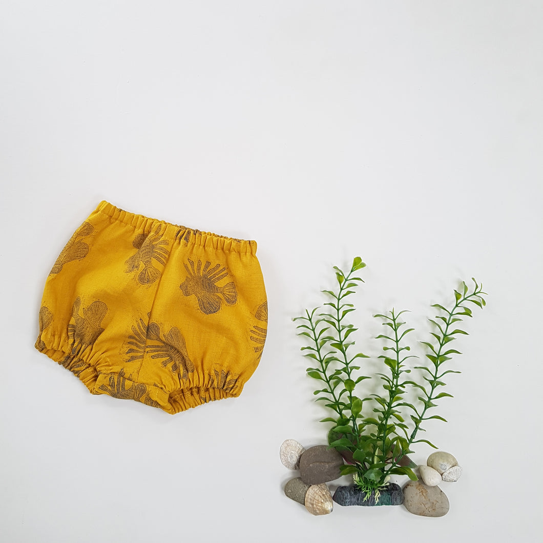 LIMITED EDITION - Hand Printed Ochre Lionfish Bloomers