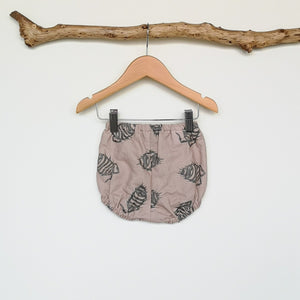 Woodlouse Print Linen Baby & Toddler Bloomers