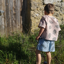 Load image into Gallery viewer, Dragonfly Print Linen Toddler & Children's Shorts