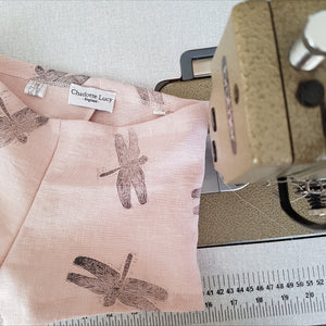LIMITED EDITION - Hand Printed Pink Dragonfly Bloomers