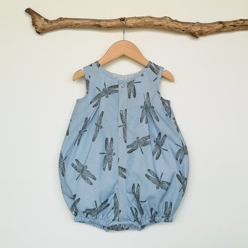 Dragonfly Linen Printed Baby & Toddler Romper