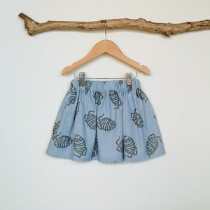 Woodlouse Print Linen Children's Skirt