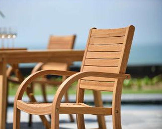 Catalina Stacking Armchair Teak Finish - 1 Piece