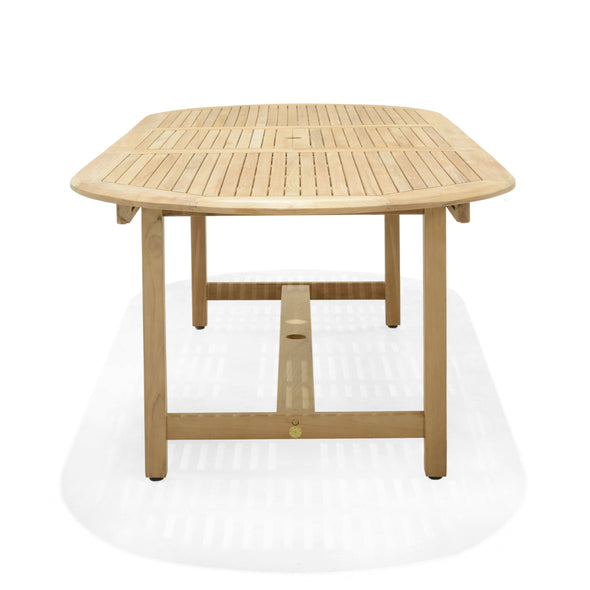 Dian Extendable Oval Teak Table
