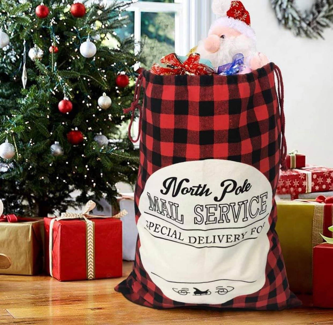 North Pole Mail Service Bags