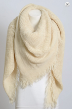 Load image into Gallery viewer, Blanket Scarf (Open weave squares)