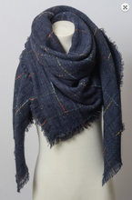 Load image into Gallery viewer, Blanket Scarf (lined graph check)