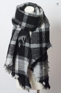 Asymmetrical Trim Scarf