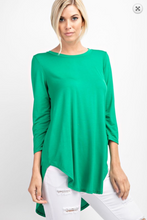 Load image into Gallery viewer, Basic Round Neck Knit 3/4 Sleeve Top