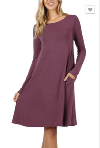 Premium Long Sleeve Flare Dress