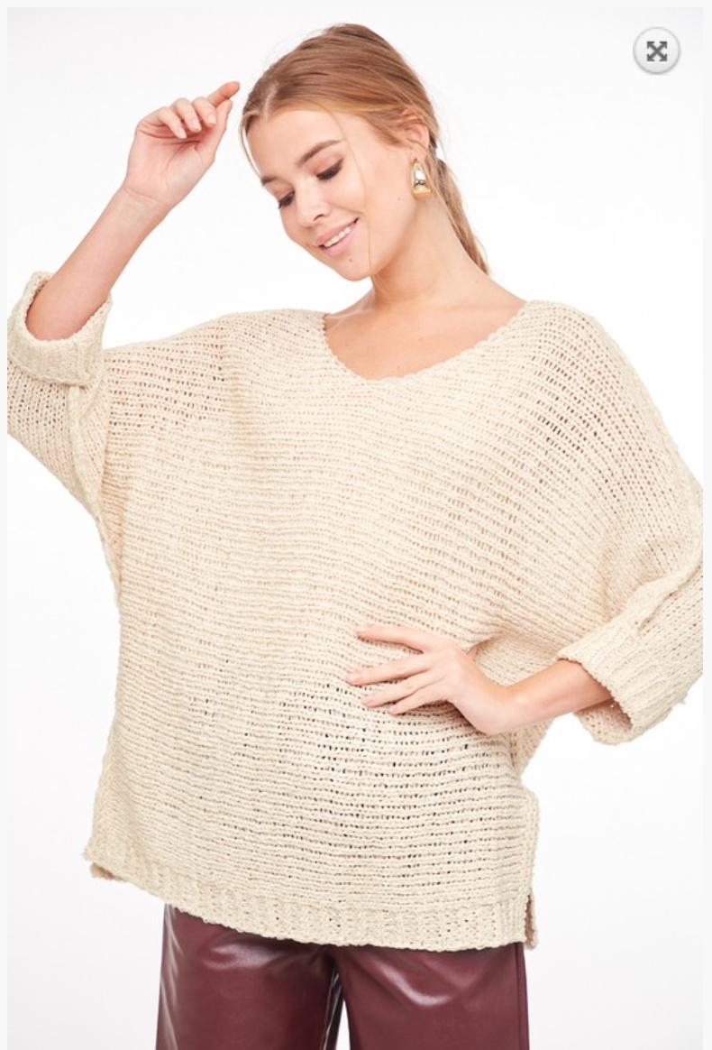 Solid Knot Sweater Top