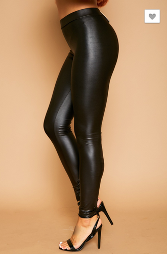 Glossy Leather Leggings