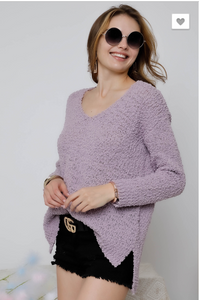 LONG SLEEVE SOLID SWEATER TOP