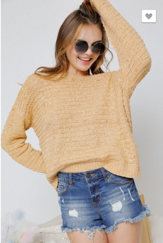 BOAT-NECK SOLID-STRIPED KNIT SWEATER