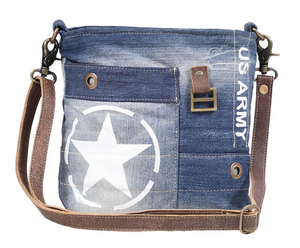 STAR DENIM SHOULDER BAG