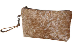 LIGHT BROWN SHADED HAIRON SMALL BAG