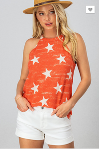 STAR RUSTIC WASHED SLEEVELESS TOP