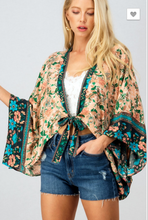 Load image into Gallery viewer, FLORAL PRINT SPRING KIMONO CARDIGAN
