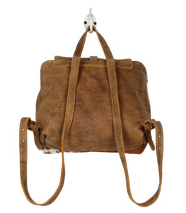 LEATHER FLAP HAIRON BACKPACK BAG